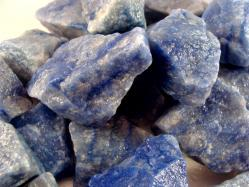 blue quartz rough stone