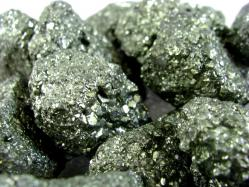 pyrite rough rocks