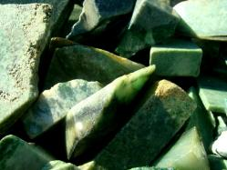jade rough rocks