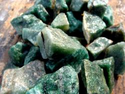 dark green aventurine rough rock