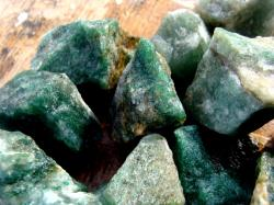 dark green aventurine rough stone