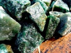 dark green aventurine rough gem