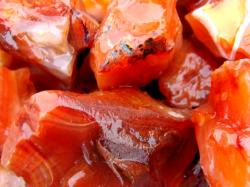 red carnelian rough rock