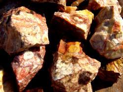 red vein jasper rough rock