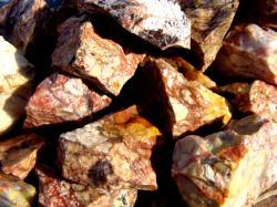 red vein jasper rough gem