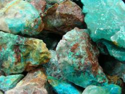 chrysocolla and turquoise gem