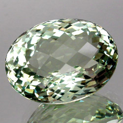 faceted green amethyst