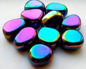 Polished Gemstone Rainbow Hematite