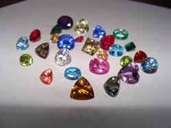 faceted gemstone mixed lot