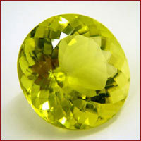 lemon quartz gem