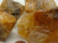 rough golden quartz