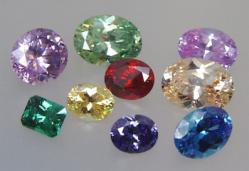 faceted gems