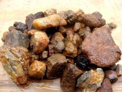 ruby corundum rough stone