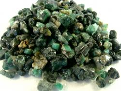 mini size emerald rough stone