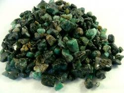 mini size emerald rough rock