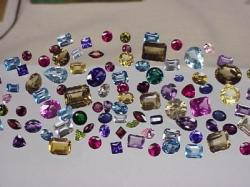 faceted gemstones