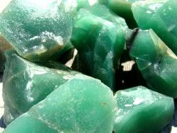 green amethyst rocks