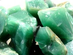 green amethyst rough gemstones