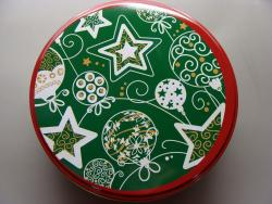 Green with Stars Tin