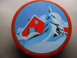 Cabin in Snow Tin