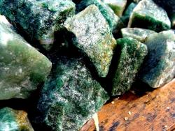 dark green aventurine rough