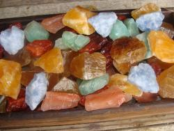 mixed color calcite rough rock