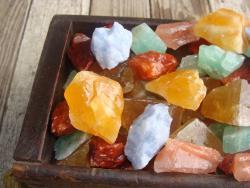 colorful calcite rough rock