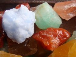 mixed color calcite rough