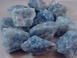 Blue calcite rough rock