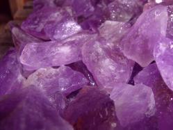 amethyst rough rocks